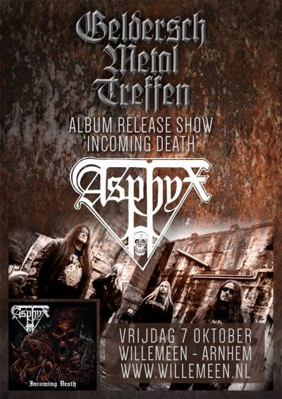 Asphyx - Incoming Death release show