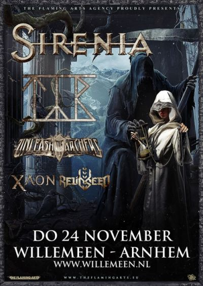 SIRENIA (NOR) + TYR (FRO) + UNLEASH THE ARCHERS (CAN) + XAON (SUI) + RELICSEED (LAT)