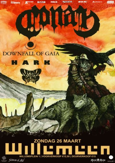 CONAN (UK) + DOWNFALL OF GAIA (DE/US) + HARK (UK) + HIGH FIGHTER (DE)