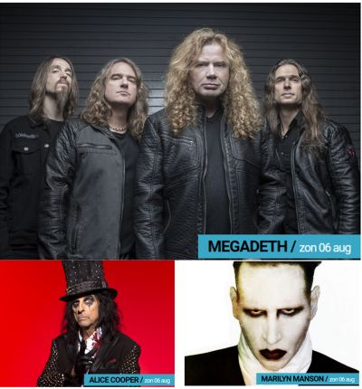 Alice Cooper - Megadeth - Marilyn Manson