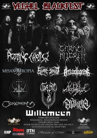 veghel BLACKFEST in willemeen met oa:  Rotting Christ, SVART CROWN, Carach Angren,THYRGRIM