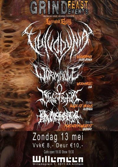 GRINDFEAST: Vulvodynia+Wormhole+Blade of Horus+Placentia Powerfist