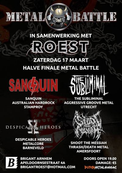 Roest presents : Halve Finale Metal Battle 2018