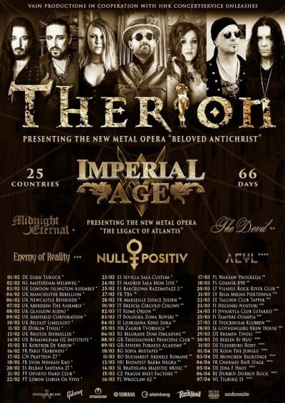 Therion + Imperial Age + Null Positiv + Galderia