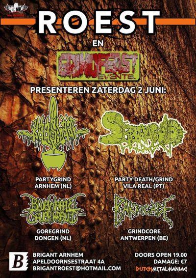 "Roest presents ""Grindfeast"" w/ Serrabulho(POR), Kaasschaaf +2"