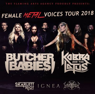 Butcher Babies + Kobra and The Lotus and supports