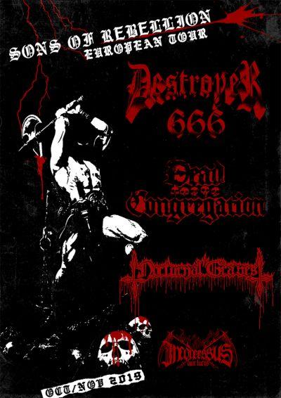 Deströyer 666 + Dead Congregation en meer!! // Doornroosje